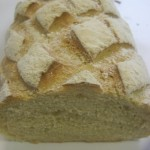 Country white bread easy to cut for sandwiches