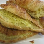 Filled bechamelle and cheese croissant