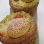 Savory brioche with smoked salmon & vegetables